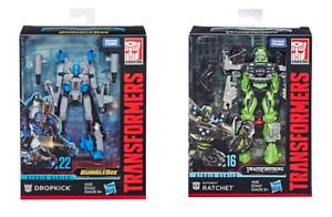 En Mano Hasbro película Transformers Serie Studio Deluxe Dropkick & figura de trinquete