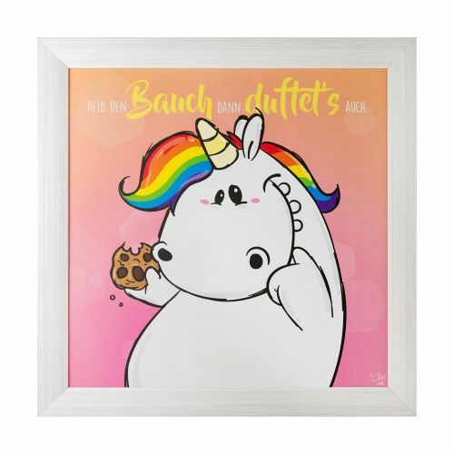 Pummel /& Friends - Pummeleinhorn Gerahmtes Deko Bild mit Duft Bauch