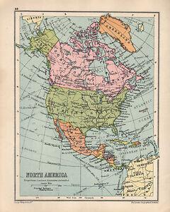 Map Of Usa And Canada And Alaska.1934 Map North America Dominion Of Canada Alaska United States