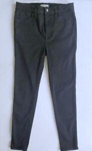 Madewell-Womens-10-034-High-Rise-Skinny-Slim-Jeans-Black-Cotton-Blend-Stretch-29