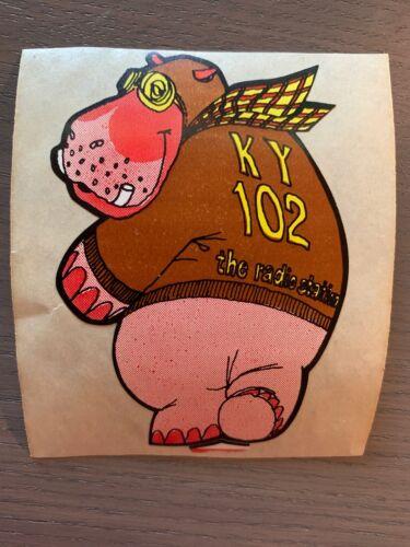 Vintage KY102 Kansas City Radio Station Stickers Decals Classic Rock NOS