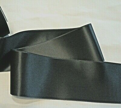 """2-3//4/"""" WIDE SWISS DOUBLE FACE SATIN RIBBON NAVY BLUE"""