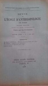 Rivista SCUOLA Antropologia 16 Eme Anni 1906 F.Alcan N° V ABE
