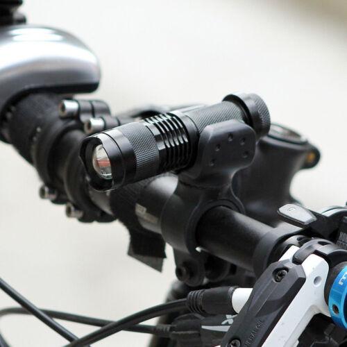 Combo Mini Q5 Bike Bicycle LED Flashlight Torch with Cycling Mount Set US Stock
