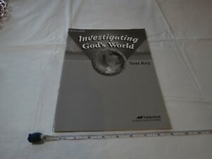 Investigating God's World test key Science Health book Beka home