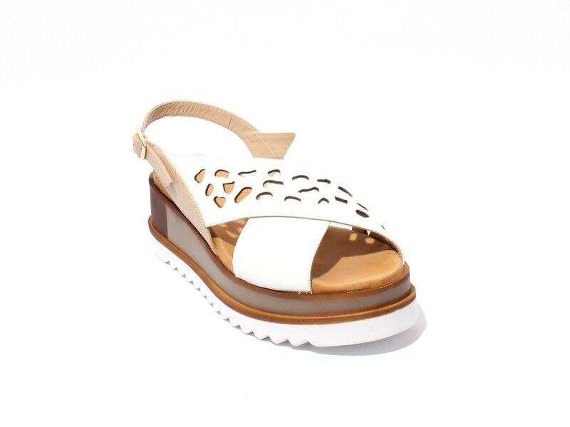 Mot-CLe 828r blancoo Cuero Con Tiras Zapatos Cuña Sandalias De Confort 40 US 10