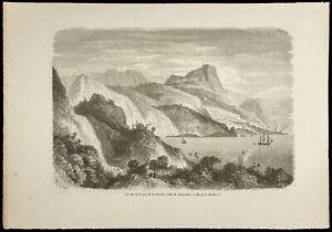Gravure De 1860 - Jamaïque (baie De Santa-anna)