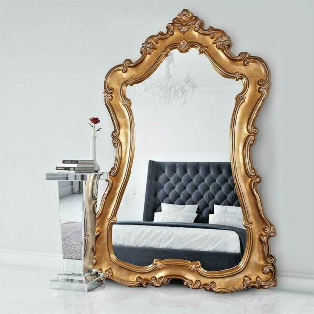 Large Baroque White Lacquer Wall Mirror Oval Ornate Open Scroll Xl 51 Horchow For Sale Online Ebay