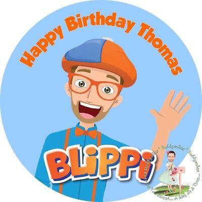 """BLIPPI 8"""" Round Premium Icing Sheet Customised Cake Topper ..."""