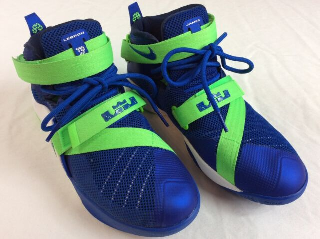 new arrival 5ea5c 948f9 Nike Lebron Soldier 9 IX Basketball Shoes Sprite Edition Men Boys 7
