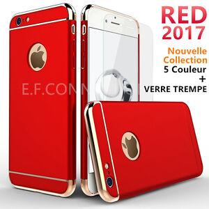 Etui-Coque-Houss-PC-1-Film-Verre-Trempe-Protection-Pour-iPhone-6-6S-7-Plus-8-X