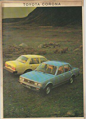 Two 1980-81 TOYOTA XT130 CORONA /& RT132 LIFTBACK Australian Market Brochures
