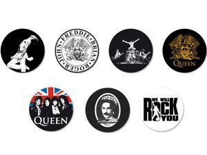 Lot Pack Badge Button Pins Ø25mm Queen Freddie Mercury Rock UK