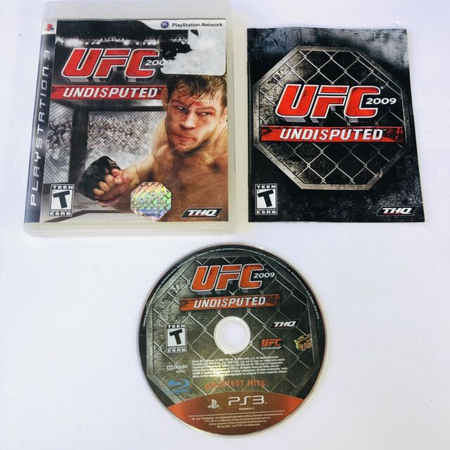 PS3 UFC: UNDISPUTED 2009 (PlayStation 3) MMA -Complete W