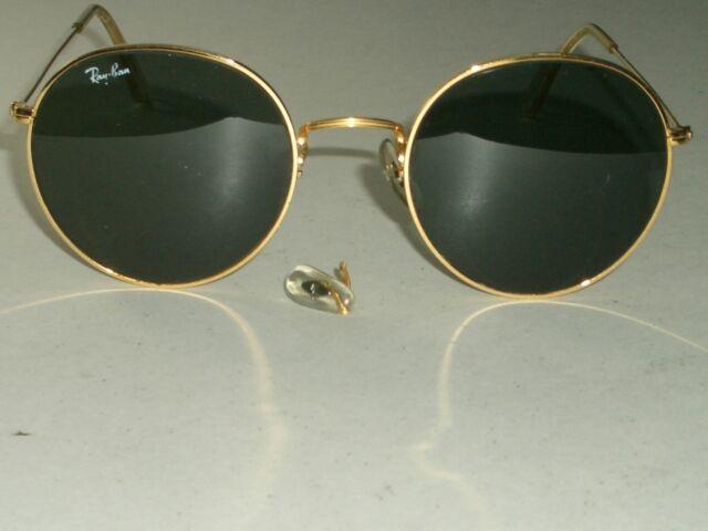 f8667e958656 Vintage B&l Ray-Ban W0607 Voas 52 21mm Arista Round Lennon Aviator  Sunglasses