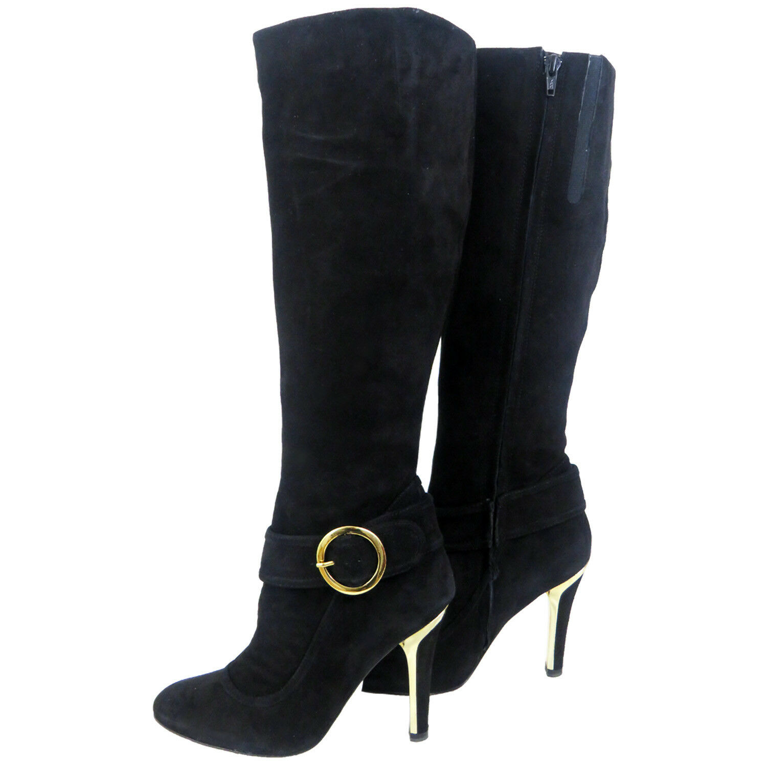 - Ladies Women Designer Fiona McGuinness  Suede Boot UK 4  EU 36.5