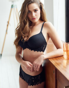 fb9de494e981f Image is loading Lepel-Fiore-T-Shirt-Bra-093206-Black