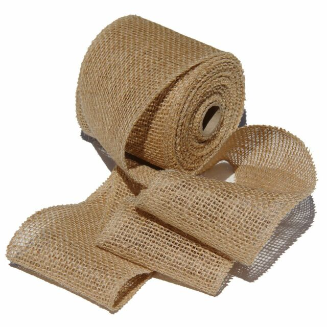 """Burlap Ribbon 2-1/2"""" wide Crafts Bows Weddings Mesh Jute Roll By the yard"""