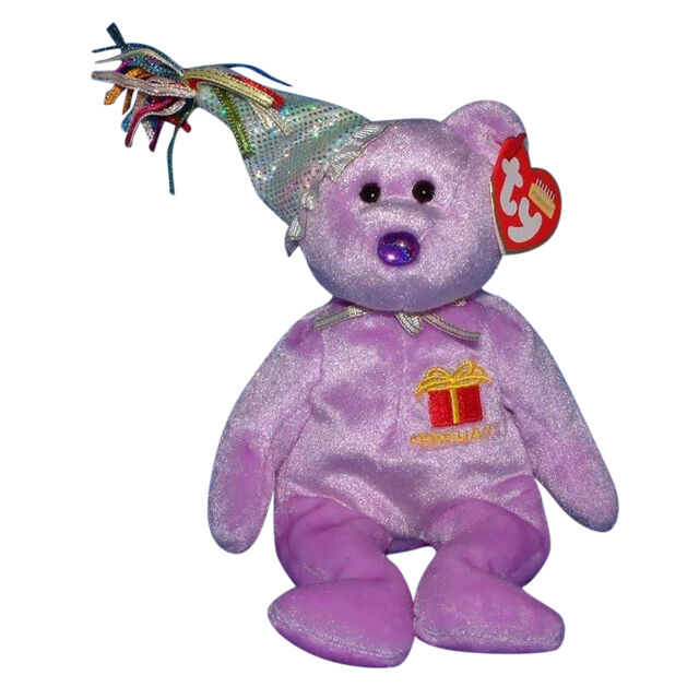 c5be1185ce5 February Amethyst Birthday Birthstone Ty Beanie Babie 8in Bear 2nd ...