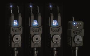 Prologic-SMX-Custom-Black-Blue-Fishing-Bite-Alarm-Set-2-3-or-4-Rod