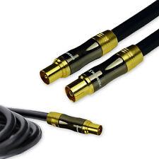 2m PremiumX Línea de oro Cable de antena de TV Negro 135dB COBRE PURO