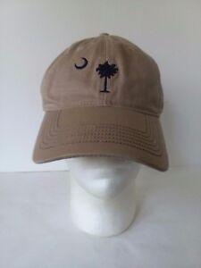 03697dfdd198a Baseball Hat Cap Beige Blue South Carolina Palmetto Crescent Hilton ...