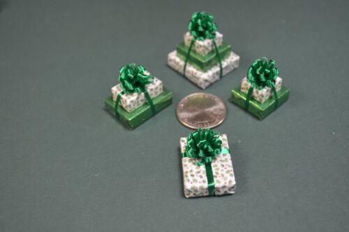 Mini Holly a triple 2 doubles and a single Miniature Christmas Presents
