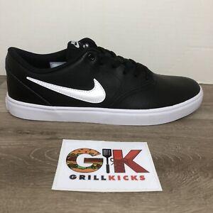 Nike SB Check Solar Black White Leather