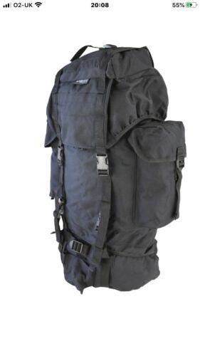 Surplus Militaire Kombat 60 L Noir Sac À Dos//Daysack