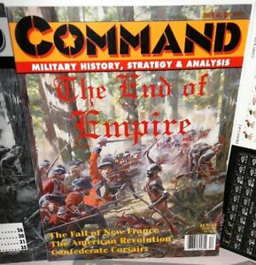 BOARD-WAR-GAME-Mag-Command-46-End-of-Empire-Fr-amp-Indian-War-AmRev-op-1997-UNP