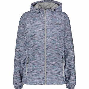 NEW-BALANCE-Women-039-s-Spacedye-Hooded-Windbreaker-Jacket-size-SMALL