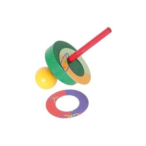 Wooden Spinning Top with Flugscheiben - Sorted