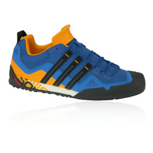 Adidas Mens Terrex Swift Solo Chaussures De Marche Bleu Sports Extérieur Respirant