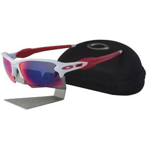 60ab6f5c71a Oakley OO 9188-21 FLAK 2.0 XL Polished White Positive Red Lens Mens ...