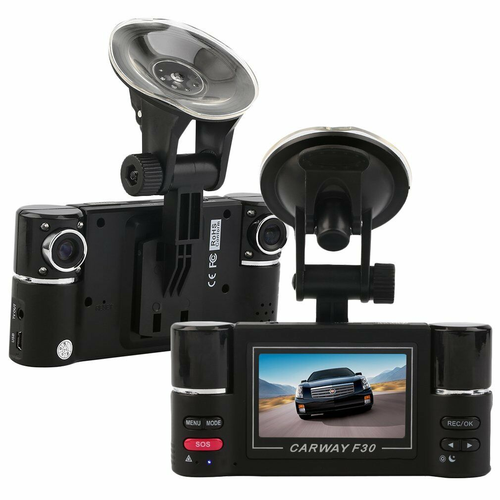 "s-l1600 2.7"" HD 1080P Dual lens Car DVR Night Vision Rear view Camera Recorder Dash Cam"
