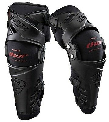 Thor Force Knee Guards Braces Large / XLarge XL Pair Set Black Red New