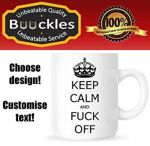 Keep-Calm-amp-Fu-k-Off-Mug-Gift-Present-Office-Funny-Secret-Santa-Christmas