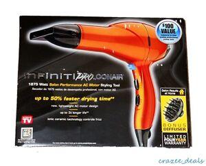 Conair-Infiniti-Pro-1875-Watt-Salon-Performance-Motor-Hair-Dryer-Orange-259XD