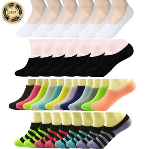3-12-Pairs-Womens-Ankle-Boat-Liner-Invisible-No-Show-Low-Cut-Solid-Cotton-Socks