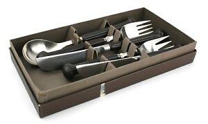 Denby-Regency-Brown-Stone-amp-Steel-Cutlery-Set-2-Knives-amp-Forks-1-Spoon-Boxed