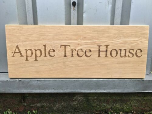 Custom Engraved Outdoor Wooden Name Plaque Personalised Oak House Sign Carved