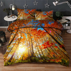 Among Twilight 3D Quilt Duvet Doona Cover Set Single Double Queen King Print