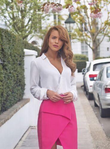 Vlabel London Beverly Asymmetric Wrap Mini Skirt