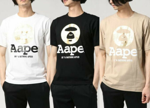 A BATHING APE Men/'s AAPE TEE FACE LOGO 3colors AAPTEM0432XXE Japan New