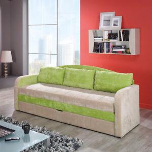 Couch Sofa Panga I Wohnzimmer 3-Sitzer Schlaffunktion Gästebett ...