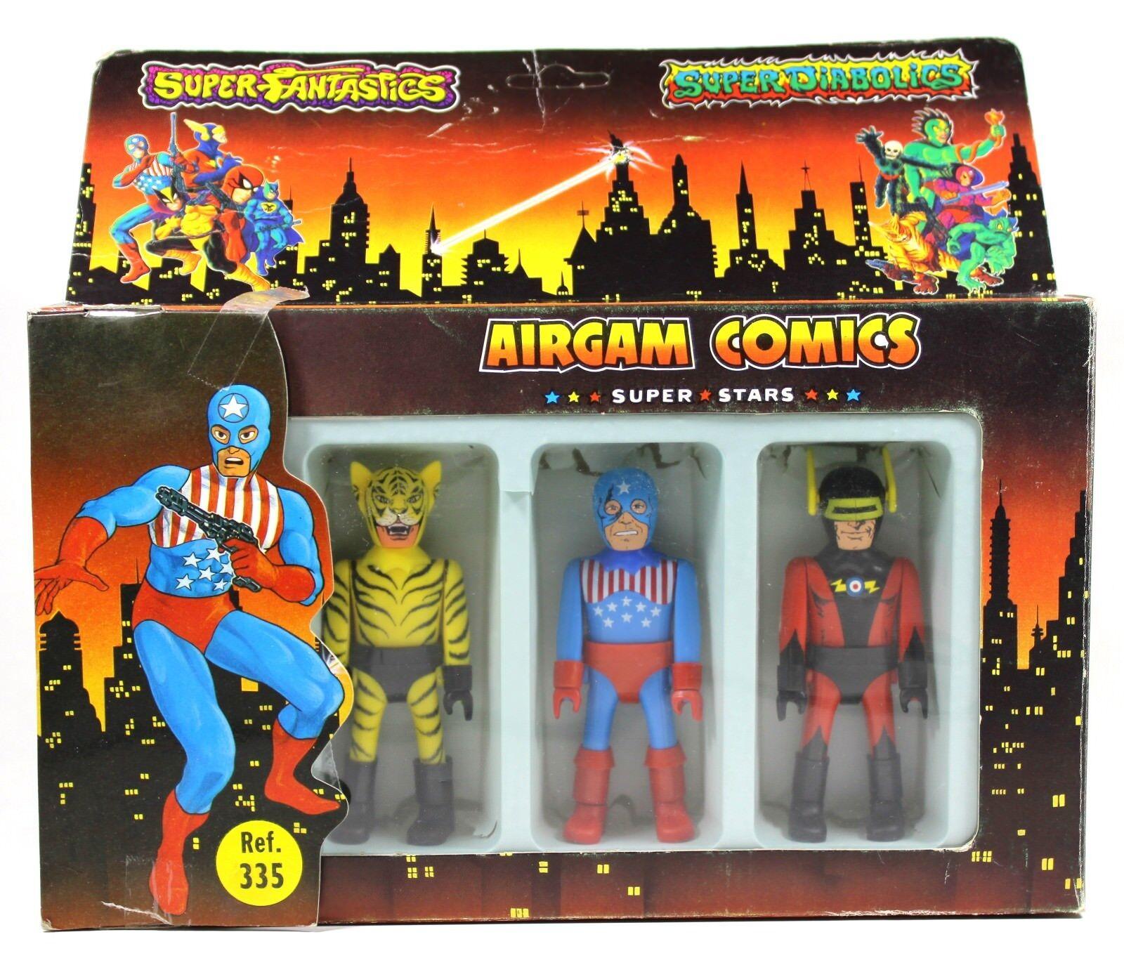 1985 Airgam Comics Super Stars CAPT. LASER, BAD TIGER & STARSMAN Airgamboys  2