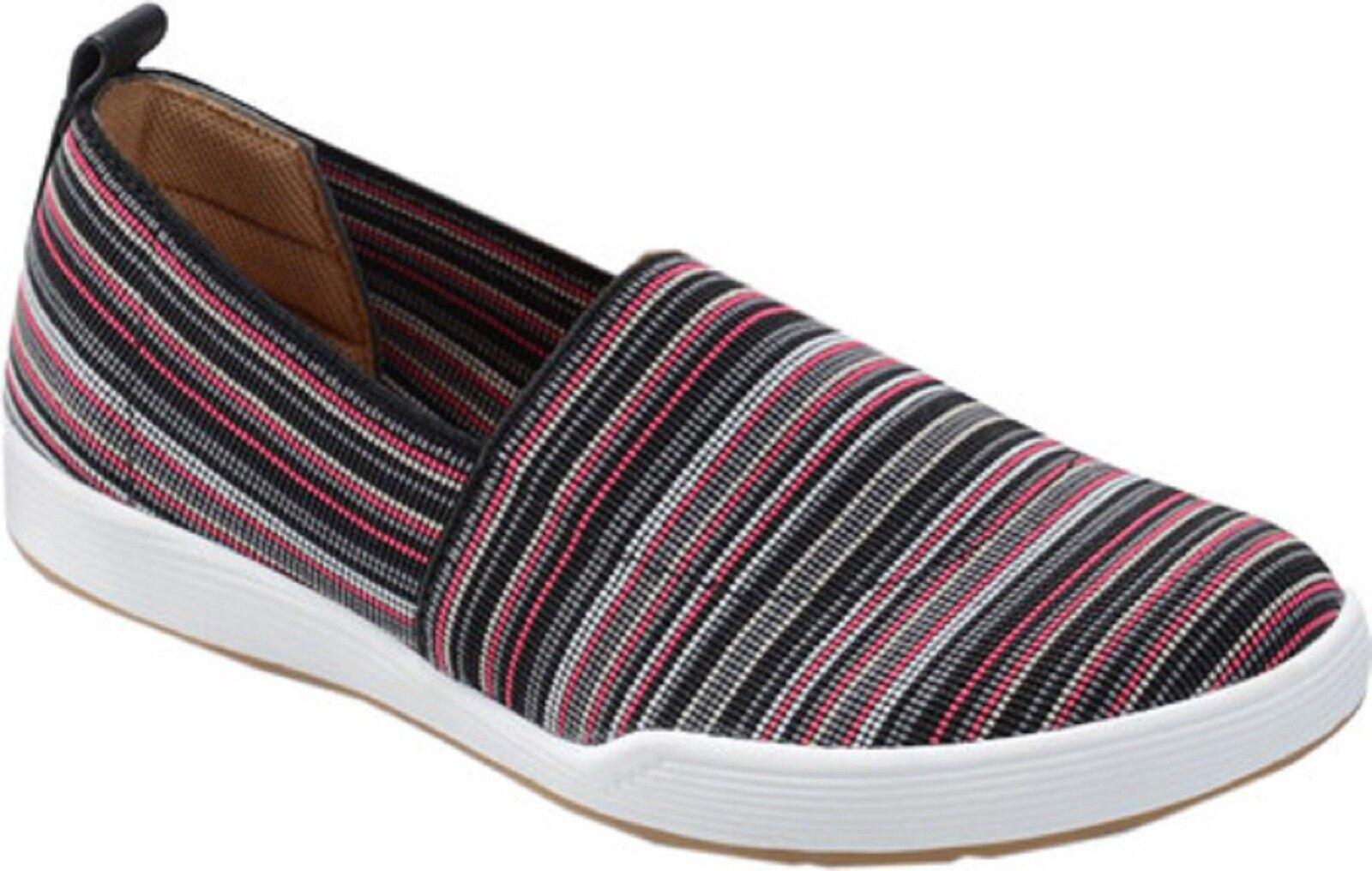 design unico COMFORTIVA Ladies LIDA Slip-On Slip-On Slip-On Stretch Textile scarpe nero MULTI Sz. 9.5 M  NIB  alta qualità