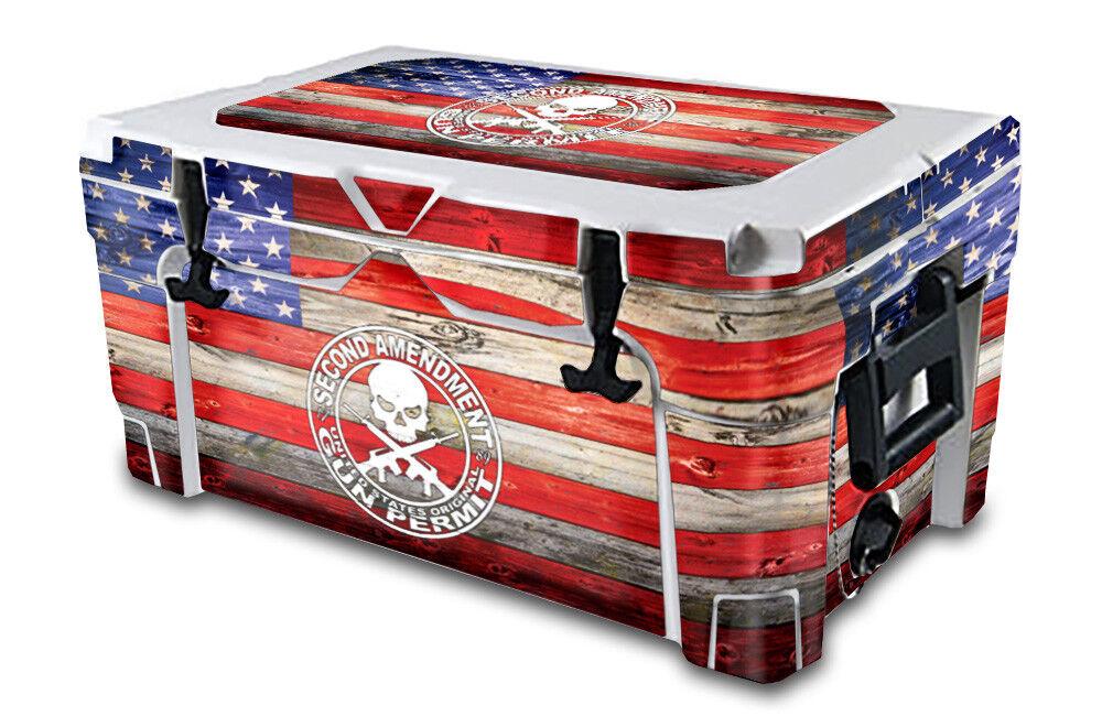 USATuff Decal Wrap Full Kit fits IGLOO Sportsman 40qt Cooler 2nd Amen Flg Clr