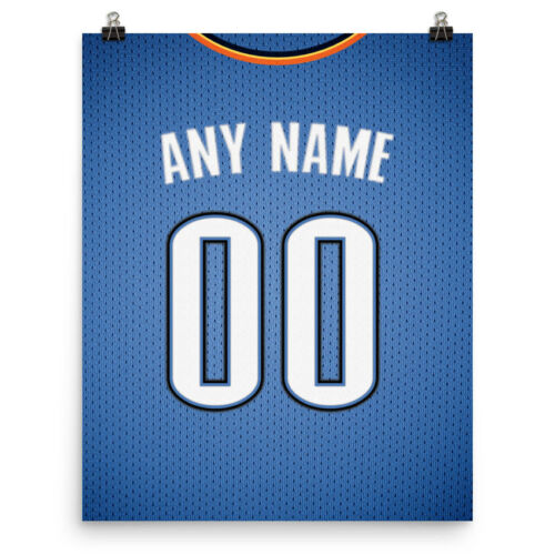 Personalized Name /& Number FREE US SHIPPING OKC Thunder Jersey Poster