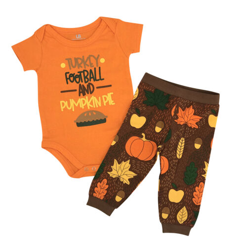 Thanksgiving Baby Boy Newborn Infant Layette Outfit Set Football NB,3m,6,9,12,18